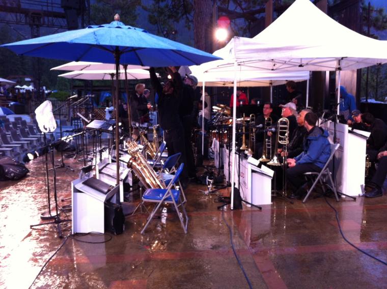 Rain at Sand Horbor.