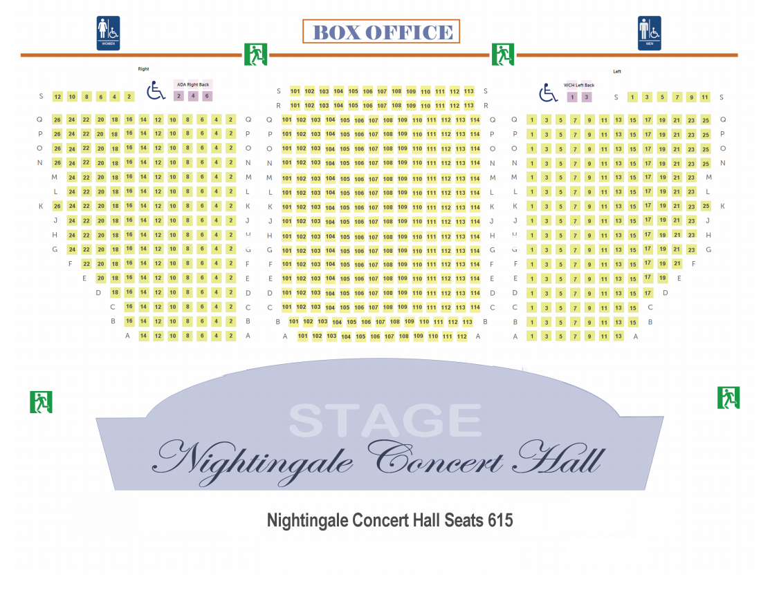 NCH Seating Map