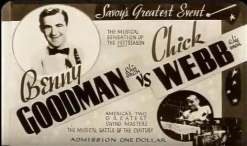 Vintage Benny Goodman and Chick Webb poster